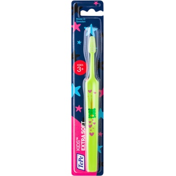 TePe Kids brosse à dents pour enfants extra soft Light Green (Small Toothbrush with Tapered Brush Head, 3+ Ages)
