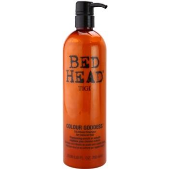 TIGI Bed Head Colour Goddess shampoing à l'huile pour cheveux colorés (Oil Infused Shampoo for Coloured Hair) 750 ml