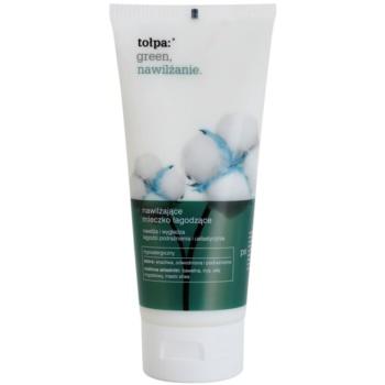 Tołpa Green Moisturizing lait corporel apaisant Cotton, Iris, Almond Oil, Shea Butter (Hypoallergenic) 200 ml