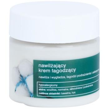 Tołpa Green Moisturizing crème apaisante et hydratante effet lissant Cotton, Iris (Hypoallergenic) 50 ml