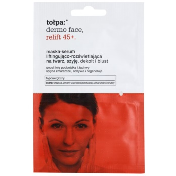 Tołpa Dermo Face Relift 45+ masque illuminateur effet lifting (Hypoallergenic) 2 x 6 ml