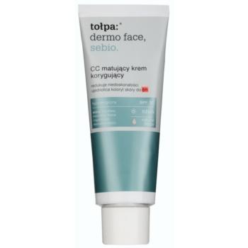 Tołpa Dermo Face Sebio CC crème matifiante pour peaux à imperfections SPF 30 teinte Natural Beige (Hypoallergenic) 40 ml
