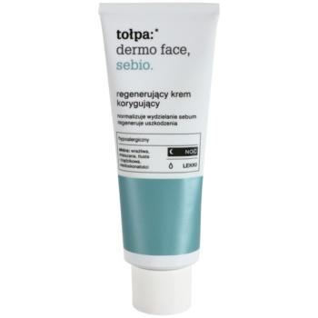 Tołpa Dermo Face Sebio crème de nuit régénérante pour peaux grasses (Hypoallergenic) 40 ml