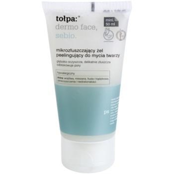 Tołpa Dermo Face Sebio gel nettoyant effet exfoliant (Hypoallergenic) 50 ml