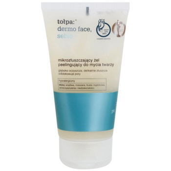 Tołpa Dermo Face Sebio gel nettoyant effet exfoliant (Hypoallergenic) 150 ml