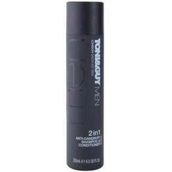 TONI&GUY Men shampoing et après-shampoing 2 en 1 anti-pelliculaire (2in1 Anti-Dandruff Shampoo & Conditioner) 250 ml