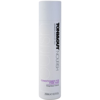 TONI&GUY Nourish après-shampoing pour cheveux fins (Conditioner for Fine Hair – Weightless Volume) 250 ml