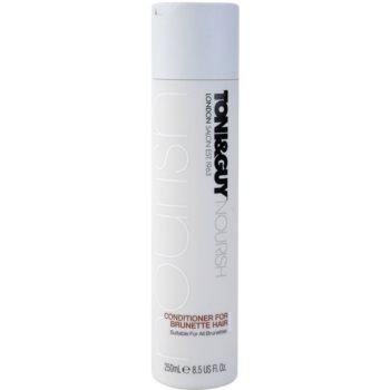 TONI&GUY Nourish après-shampoing pour cheveux bruns (Conditioner for Brunette Hair Suitable for All Brunettes) 250 ml