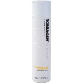 TONI&GUY Nourish après-shampoing pour cheveux blonds (Conditioner for Blonde Hair) 250 ml