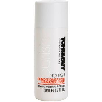 TONI&GUY Nourish après-shampoing pour cheveux abîmés (Conditioner for Damaged Hair Intense Moisture & Shine) 50 ml