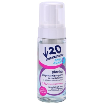 Under Twenty ANTI! ACNE mousse nettoyante effet antibactérien (with Mandelic Acid, Lens Extract and Betain) 150 ml