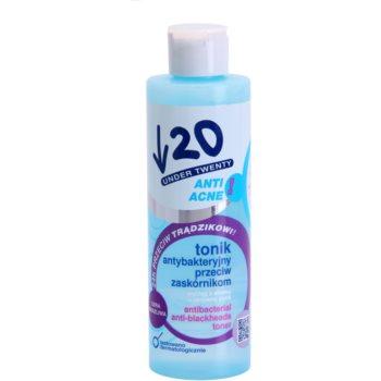 Under Twenty ANTI! ACNE lotion tonique antibactérienne anti-points noirs (with Aloe Extract + Active Zinc + Mandelic Acid + Allantoin) 200 ml