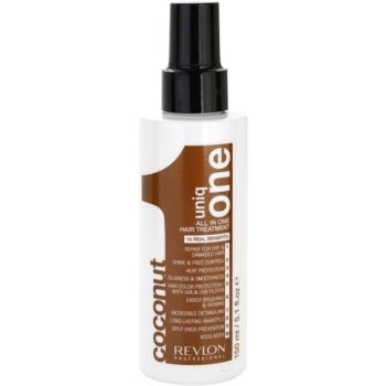 Uniq One All In One cure capillaire à la noix de coco 10 en 1 (Hair Treatment Coconut) 150 ml