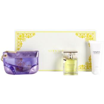 Versace Vanitas coffret cadeau XII. eau de toilette 100 ml + lait corporel 100 ml + petit sac