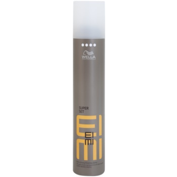 Wella Professionals Eimi Super Set laque cheveux fixation extra forte Hold Level 4 (Formulated to Help Protect Hair from the Effects of Humidity, UV and Heat) 300 ml