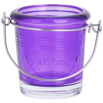 Yankee Candle Glass Bucket porte-bougie votive en verre    (Violet)