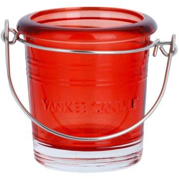 Yankee Candle Glass Bucket porte-bougie votive en verre    (Ruby)