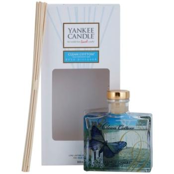 Yankee Candle Clean Cotton diffuseur d'huiles essentielles avec recharge 88 ml Signature