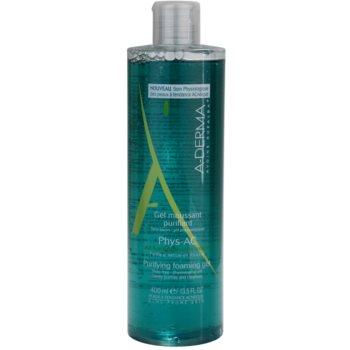 A-Derma Phys-AC gel detergente in schiuma per pelli problematiche, acne (Soap -Free - Physiological pH) 400 ml