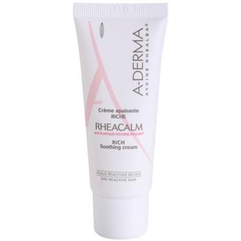 A-Derma Rheacalm crema nutriente lenitiva per pelli secche (Rich Soothing Cream) 40 ml