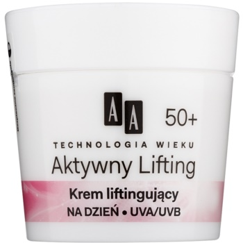 AA Cosmetics Age Technology Active Lifting crema lisciante per rassodare i contorni del viso 50+ (Collagen; Coenzyme Q10) 50 ml