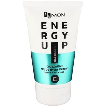 AA Cosmetics Men Energy Up gel detergente rinfrescante per il viso (Menhtol + Vitamin C) 150 ml