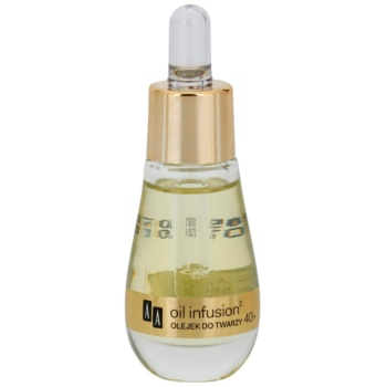 AA Cosmetics Oil Infusion2 Argan Tsubaki 40+ olio viso per un nutrimento e un'elasticità intensi 100% Oil Formula (Light Formula, Biocompatible) 15 ml