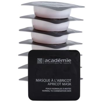 Academie Normal to Combination Skin maschera rinfrescante all'albicocca 8 x 10 ml