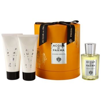 Acqua di Parma Colonia Assoluta kit regalo I. EDC + ASB + SWG acqua di Colonia 100 ml + balsamo post-rasatura 75 ml + gel doccia 75 ml