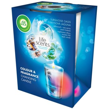 Air Wick Life Scents Color & Fragrance Changing candela profumata 140 g  (Turquoise Oasis)