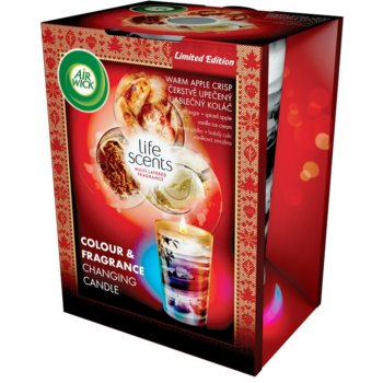 Air Wick Life Scents Color & Fragrance Changing candela profumata 140 g  (Warm apple crisp)