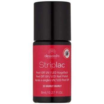 Alessandro Striplac smalto per unghie peel-off per lampada UV/LED colore 33 Hurly Burly 8 ml