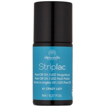 Alessandro Striplac smalto per unghie peel-off per lampada UV/LED colore 61 Crazy Lazy 8 ml