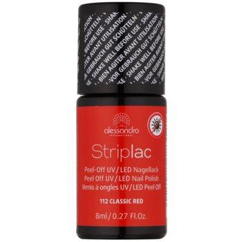 Alessandro Striplac smalto per unghie peel-off per lampada UV/LED colore 112 Classic Red 8 ml