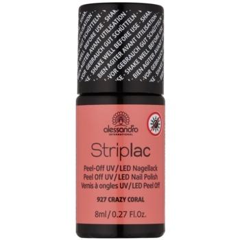 Alessandro Striplac smalto per unghie peel-off per lampada UV/LED colore 927 Crazy Coral 8 ml