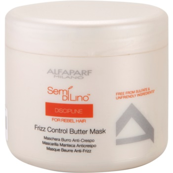 Alfaparf Milano Semí Dí Líno Discipline maschera per capelli ribelli e crespi (Frizz Control Butter Mask) 500 ml