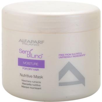Alfaparf Milano Semí Dí Líno Moisture maschera nutriente per capelli rovinati e secchi (Nutritive Mask) 500 ml