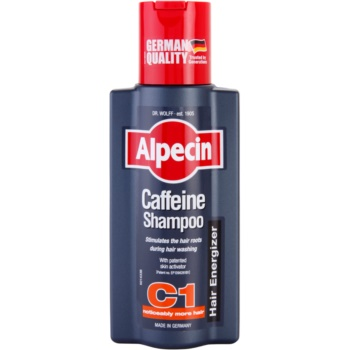 Alpecin Hair Energizer Coffeine Shampoo C1 shampoo alla caffeina uomo stimolante della crescita dei capelli (Stimulates The Hair Roots During Hair Washing With Patented Skin Activator) 250 ml