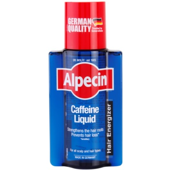Alpecin Hair Energizer Caffeine Liquid lozione tonica alla caffeina anti-caduta dei capelli per uomo (Strengthens The Hair Roots; Prevents Hair Loss) 200 ml