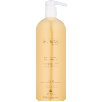 Alterna Bamboo Smooth shampoo contro i capelli crespi senza sulfati né parabeni (Anti-Frizz Shampoo) 1000 ml