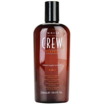 American Crew Classic shampoo, balsamo e gel doccia 3 in 1 per uomo 250 ml