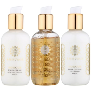 Amouage Honour kit regalo III gel doccia 100 ml + latte corpo 100 ml + crema mani 100 ml