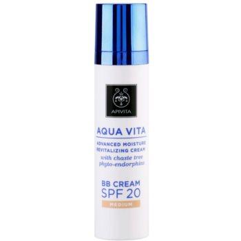 Apivita Aqua Vita BB cream idratante e rivitalizzante SPF 20 colore Medium (with Chaste Tree Phyto-Endorphins, All Skin Types) 40 ml