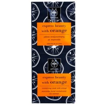 Apivita Express Beauty Orange maschera rivitalizzante viso 2 x 8 ml