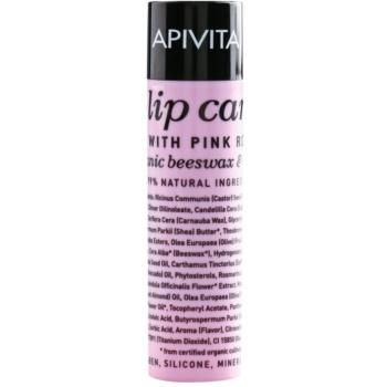 Apivita Lip Care Pink Rose balsamo idratante effetto rigenerante (Organic Beeswax & Olive Oil) 4,4 g