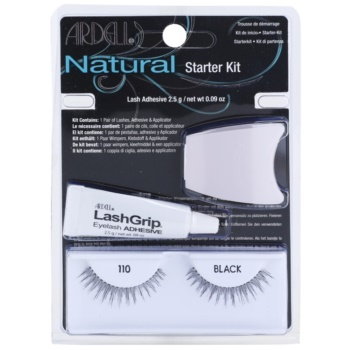 Ardell Natural ciglia finte con colla e applicatore 110 Black