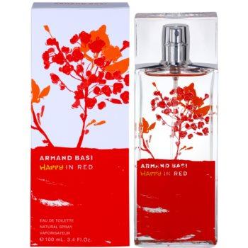 Armand Basi Happy In Red eau de toilette per donna 100 ml