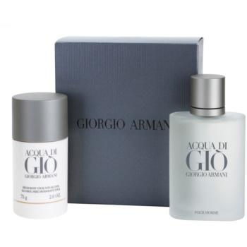 Armani Acqua di Gio Pour Homme kit regalo V eau de toilette 100 ml + deo-stick 75 g