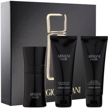 Armani Code kit regalo X eau de toilette 50 ml + gel doccia 75 ml + balsamo post-rasatura 75 ml