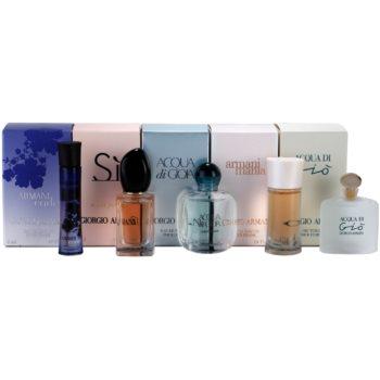 Armani Mini kit regalo III eau de parfum 3 ml + eau de parfum 7 ml + eau de parfum 5 ml + eau de parfum 4 ml + eau de toilette 5 ml